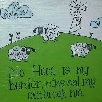 Psalm 23 on plywood or metal sheet
