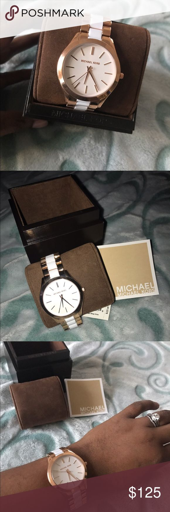 BRAND NEW Michael Kors Watch Brand New Rose Gold & White Michael Kors Watch Michael Kors Accessories Watches