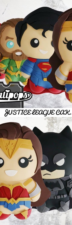 JUSTICE LEAGUE CAKES | Batman, Wonder Woman, Superman, Flash, Cyborg & Aquaman... Tags: justice league, justice league cake, batman cake, wonder woman cake, superman cake, flash cake, justice league party ideas, cyborg cake, aquaman cake, cakes, baking, koalipops, fondant, super hero party ideas, party, birthday, batman, superman, wonder woman, flash, cyborg, aquaman, aquaman
