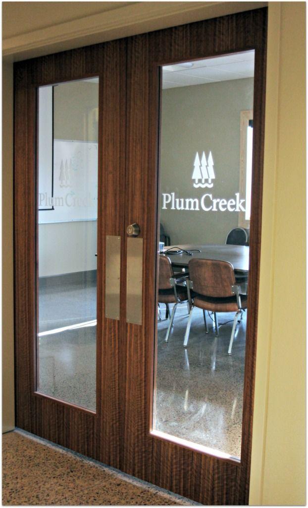 Project Spotlight - Exotic Flush Wood Doors for Plum Creek - Eggers Industries & 13 best Flush Wood Doors images on Pinterest | Wood doors Wood ...