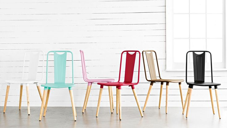 industrial colour dining chairs - Google Search