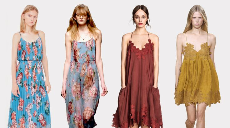 (Left to Right) Mango, Gucci Autumn/Winter 2015,  H&M, Chloé Spring/Summer 2015