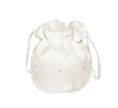 From 5.99 Flora Bridesmaid Bridal Handbag/girl Holy Communion Dolly Bagdiamante (ivory)