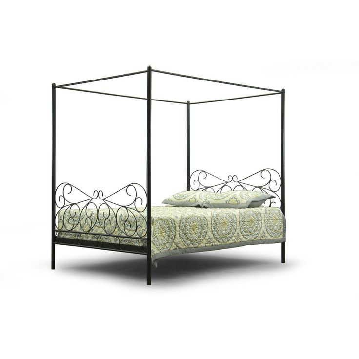 Wholesale Interiors Antiquity Queen Canopy Bed