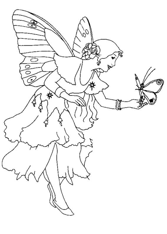214 best images about fairies coloring pages on for Butterfly fairy coloring pages