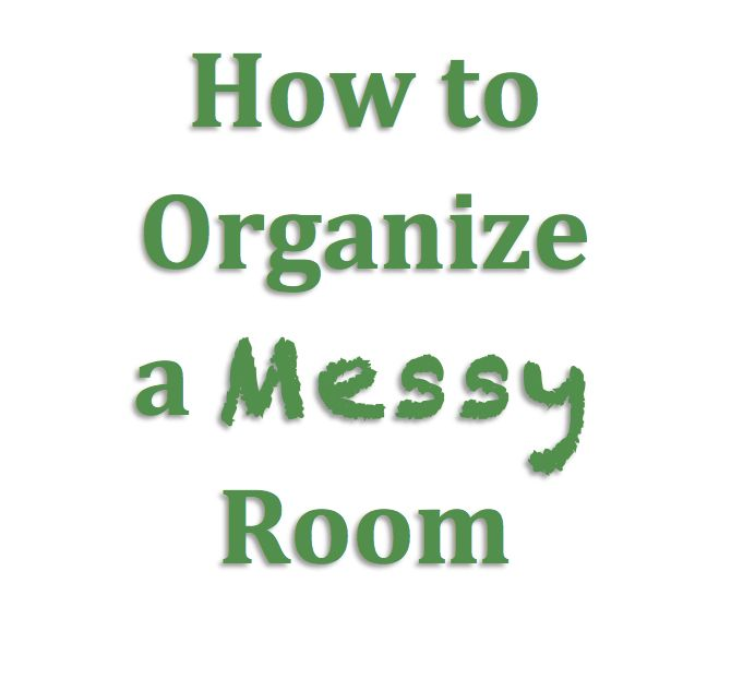 Do you have a messy room at home or at the office?   Wondering what's the best way to go about putting things...