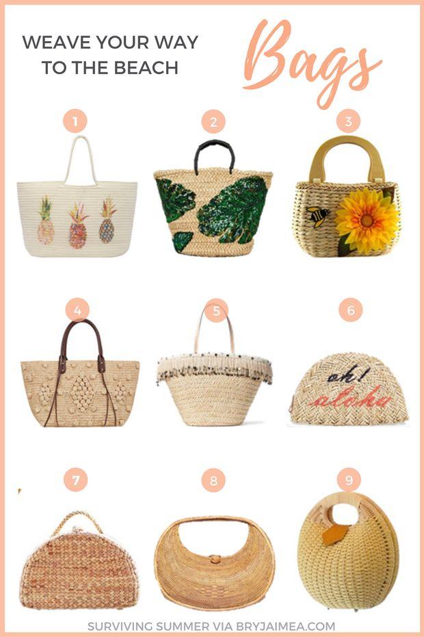 Surviving summer Woven Bags via @BryJaimea