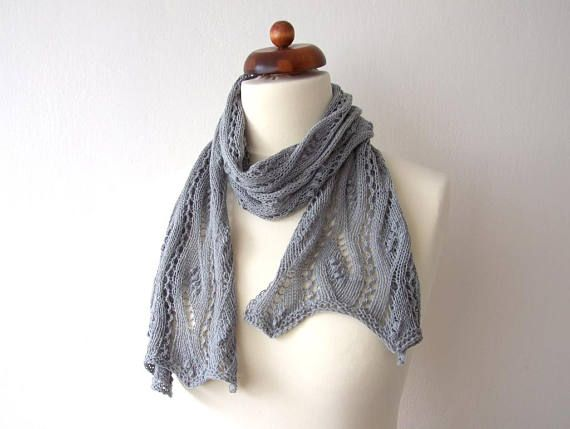 back to school gift gray lace scarf acrylic cotton scarf