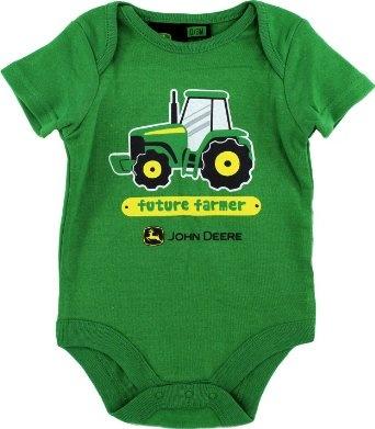 Amazon Com John Deere Quot Future Farmer Quot Green Infant Boys