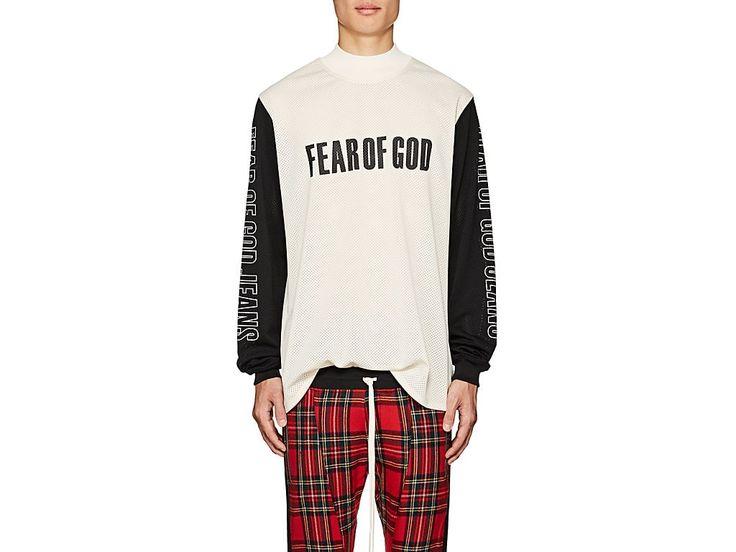 FEAR OF GOD THEDROP@BARNEYS: MOTOCROSS LOGO MESH T-SHIRT. #fearofgod #cloth #