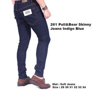 celana panjang jeans navy cowok pria / celana jeans pull and bear navy Limited