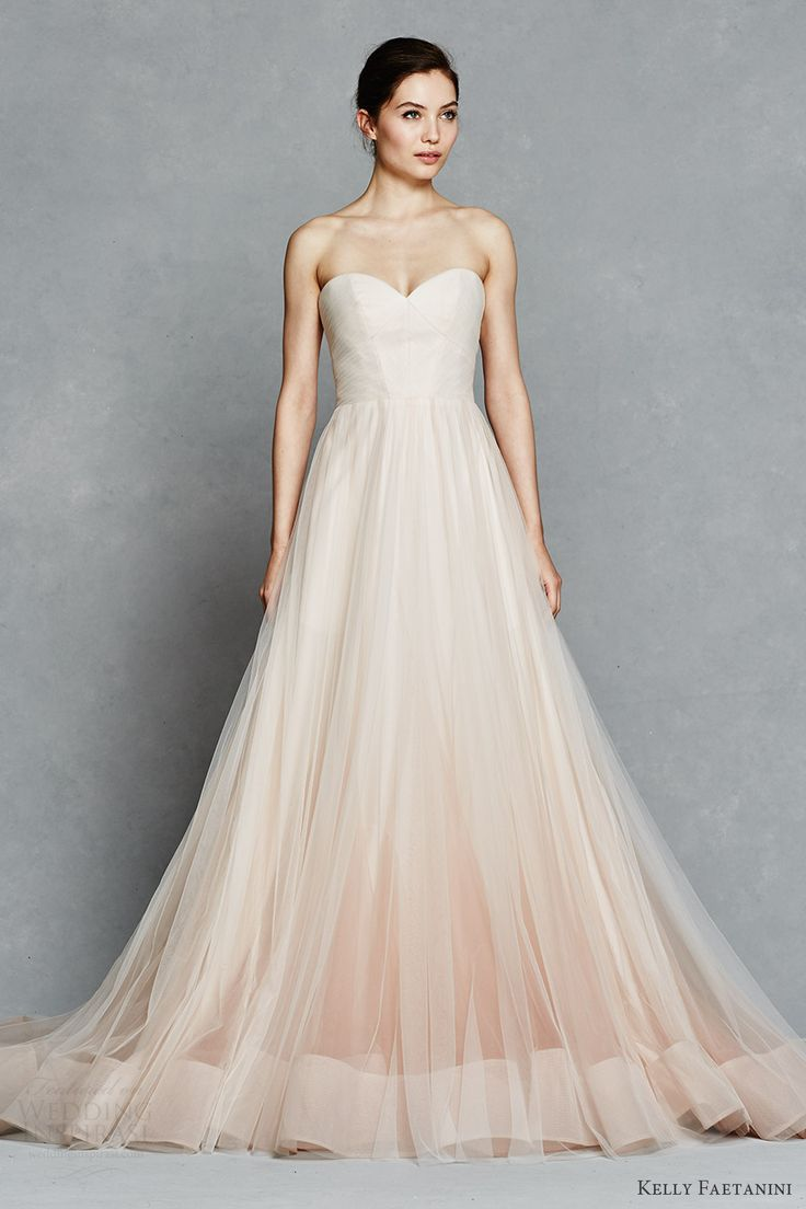 kelly faetanini bridal spring 2017 strapless sweetheart ball gown wedding dress (florence) mv pocket ombre blush color horsehair