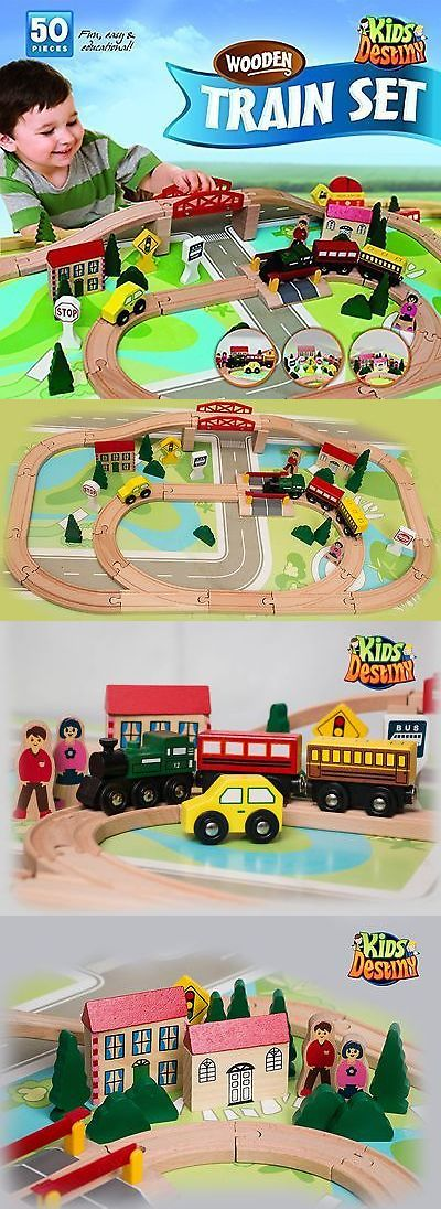 Brio Compatible 16517: Kids Destiny Wooden Train Set For Thomas And Brio 50 Pieces New -> BUY IT NOW ONLY: $34.88 on eBay!