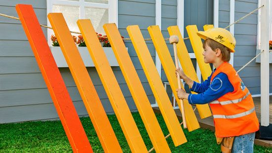 Make A Giant Decorative Xylophone