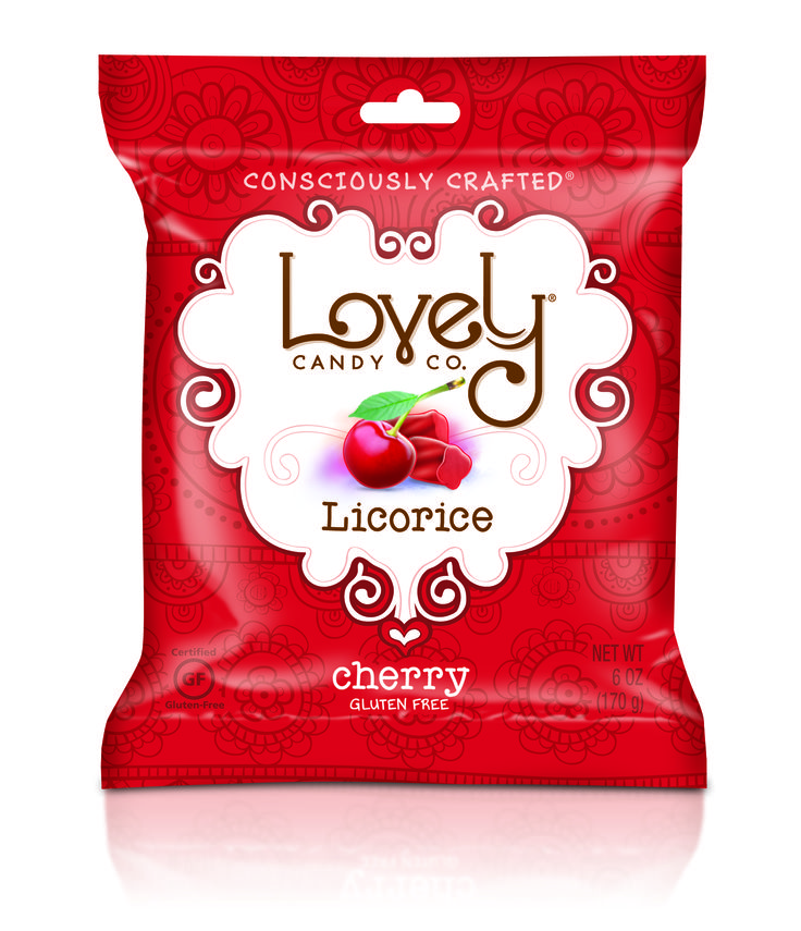 The new Gluten Free licorice line is now available on our website! Try the cherry!  #livelifelovely www.lovelycandyco.com