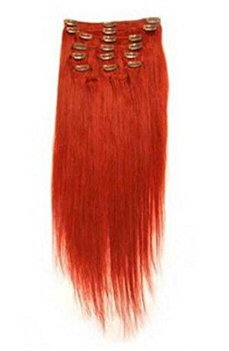 """Beauty Wig World 18"""" 7pcs 95g Fashion Synthetic Clips In On Party One Oiece Hair extension #red HuntGold http://www.amazon.com/dp/B00NYTCGHY/ref=cm_sw_r_pi_dp_JGLDub1T72168"""