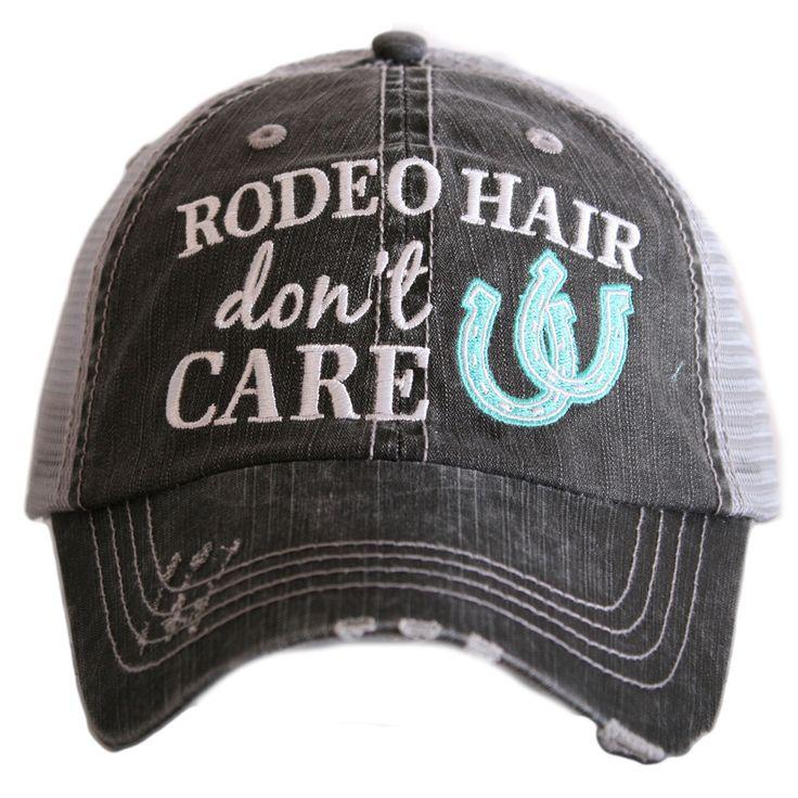 "HAT - BASEBALL TRUCKER HAT - ""RODEO HAIR DON'T CARE """