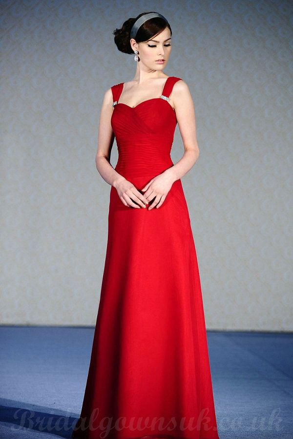 red bridesmaid dresses | Buy cheap Red Long Style Bridesmaid Dresses Wholesale With U Back
