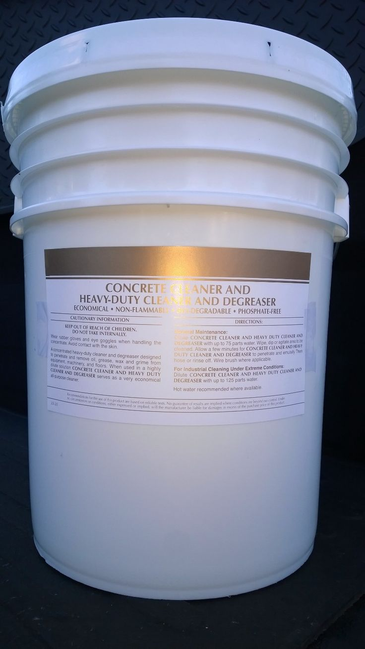 5 Gal Pail Concrete Cleaner Safe Multipurpose Non