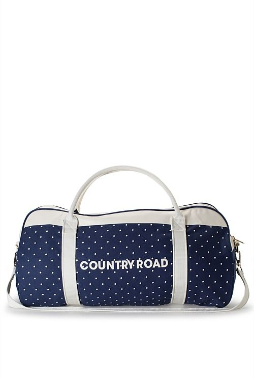 Pin Dot Stripe Logo Tote I am going to get this! #countryroad