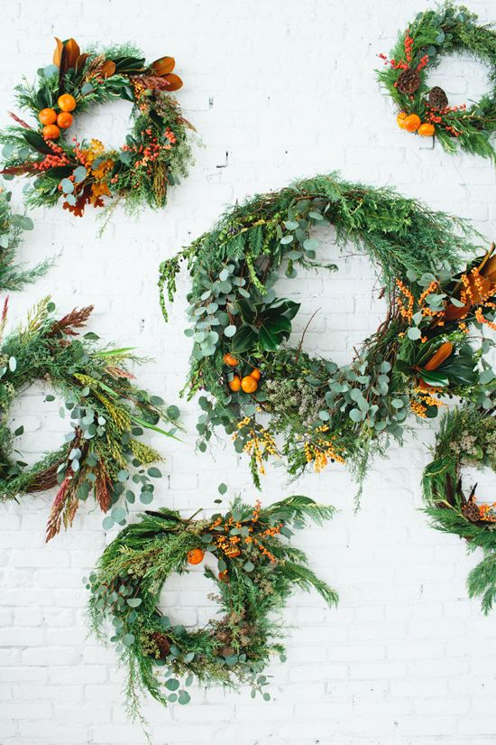 citrus christmas wreaths