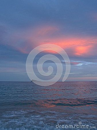 Sunset In Benidorm - Download From Over 43 Million High Quality Stock Photos, Images, Vectors. Sign up for FREE today. Image: 61706378