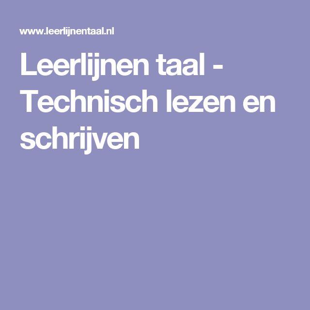 Leerlijnen taal - Technisch lezen en schrijven