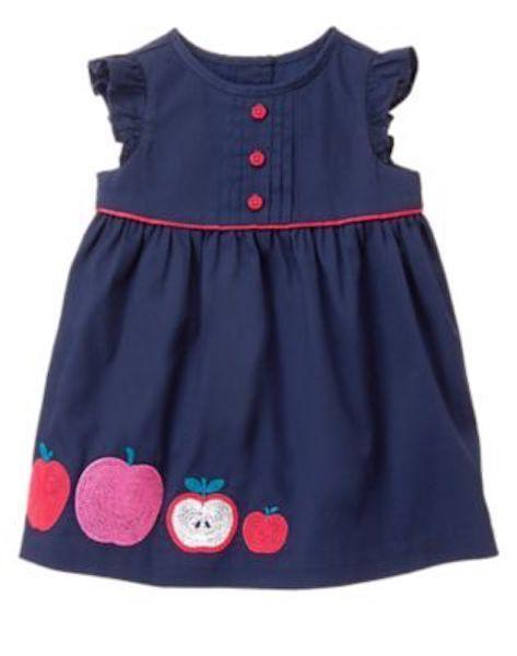 3b2a81337 NWT Gymboree Precious Prep Apple Dress Baby Girl Toddler 6 12M ...