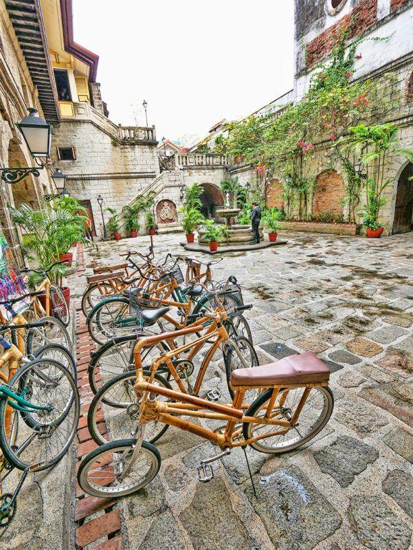 Bamboo bike tour of Intramuros, Manila, Philippines