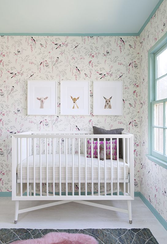 So sweet. | The Animal Print Shop by Sharon Montrose:  Cots, Birds Wallpapers, Sharon Display, Prints Shops, Baby Animal, Animal Prints, Cribs, Girls Nurseries, Kids Rooms