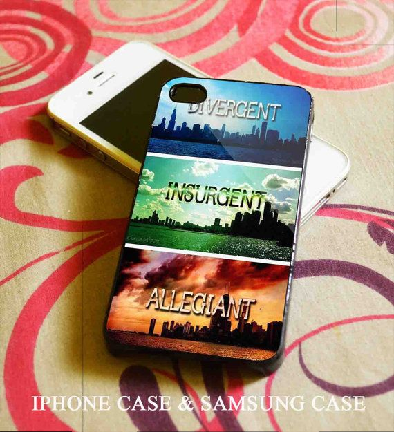 Divergent Insurgent Allegiant iPhone 4/4S case iPhone 5,5S,5C case Samsung Galaxy S3,S4 case on Etsy, $16.00
