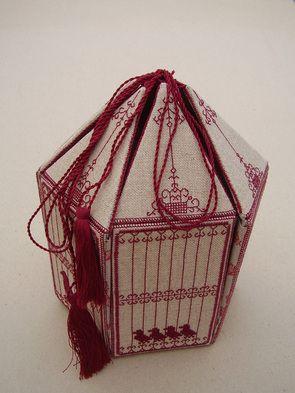 Christine P Bishop Embroidery - French Birdcage work box