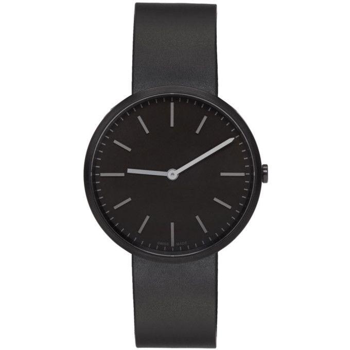 UNIFORM WARES Gunmetal & Black Rubber M37 Two-Hand Watch. #uniformwares #