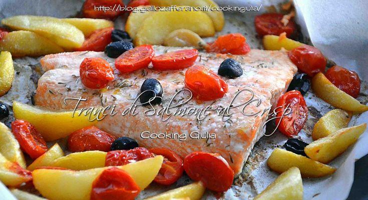 Trancio di salmone al crisp | secondo piatto light | cooking giulia