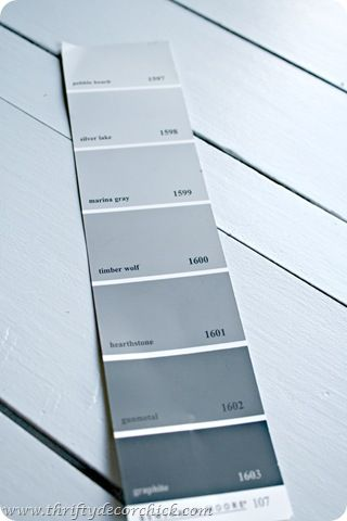Benjamin Moore Grays Chip 107 Marina Gray 1598 Or