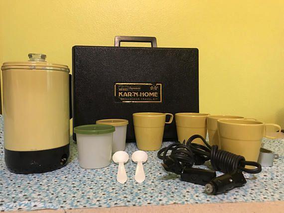 Vintage Kar N Home Coffee Maker, Percolator, Travel Coffee Maker, Camping Coffee Maker