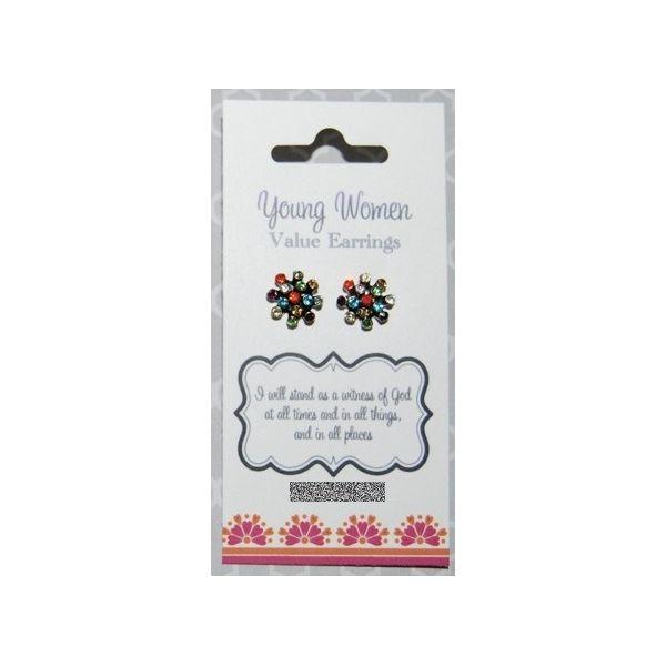 pendientes piedras colores, valores MMJJ - mormon presents store