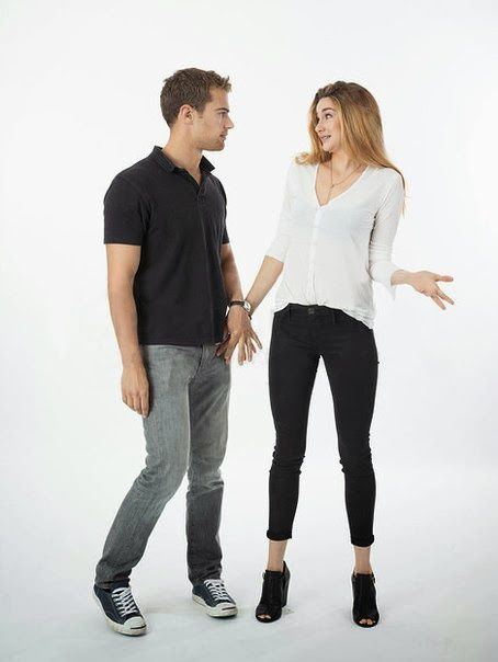 theo james, divergent, and Shailene Woodley afbeelding
