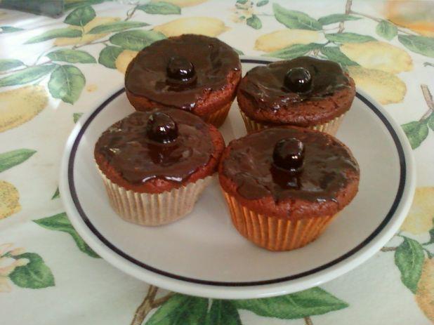 Cupcakes al cioccolato e amarena!!!