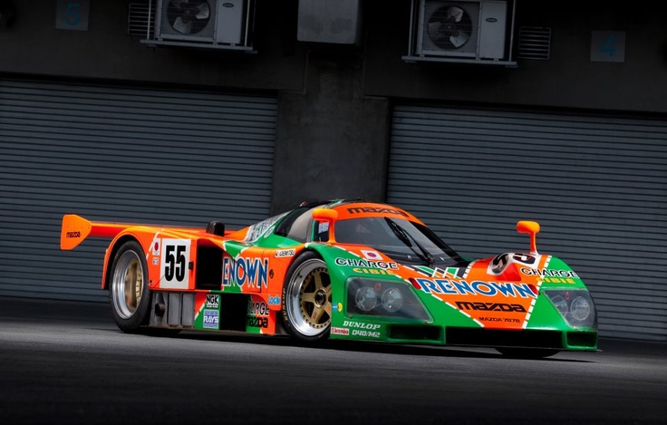 The venerated 787B, the 1991 24 hour Le Mans winner. (Mazda is still the Only Japanese auto manufacturer to ever win the 24 hour Le mans in history!) Zoomin at its best!