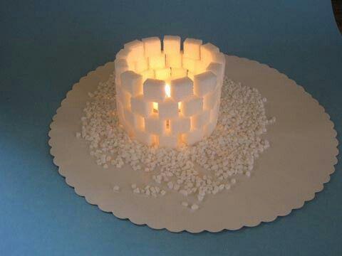Teelicht...aus Zuckerwürfel