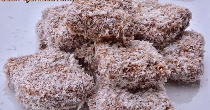Diétás kókuszkocka (fehérjedús, kalóriaszegény kókuszkocka)