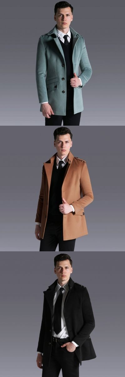 Brand Male Single Breasted Cashmere Coat 2017 Autumn/Winter Simple Causal Business Woolen Coats uk Mens Fashion Overcoat