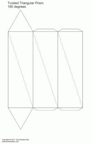 desarrollo plano de un prisma triangular torcido