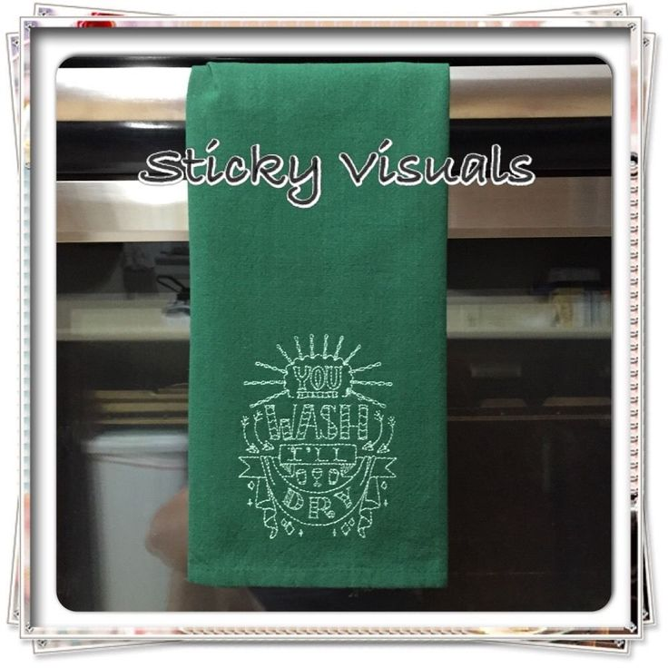 kitchen towel custom embroidered kitchen dish towel with embroidered design you wash ill dry new just in time for summer - Kitchen Towels New Design