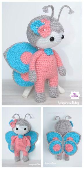 Crochet Butterfly Doll Amigurumi Free Pattern – Amanda Schwartz