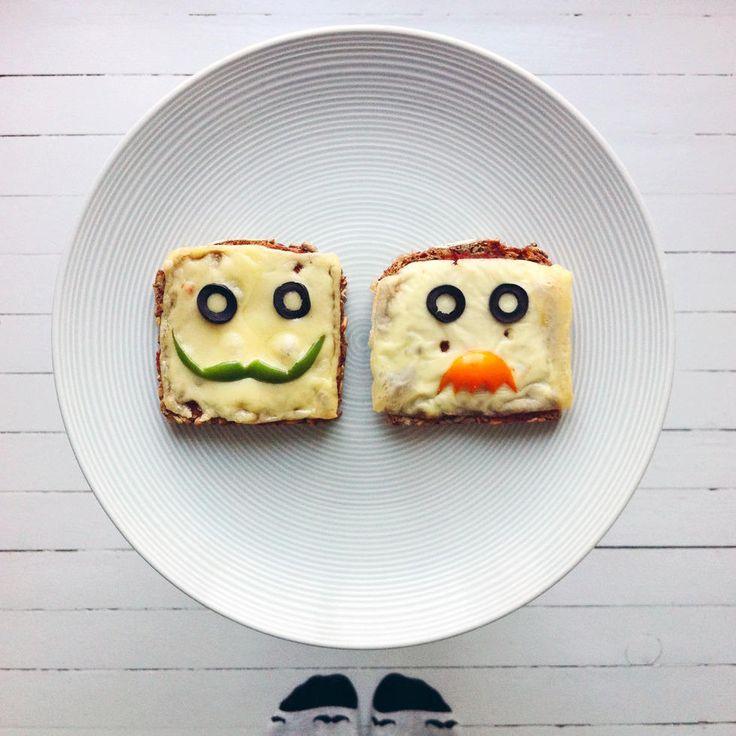 Ostesmørbrød med bart - Prøv ut nye bartestiler på ostesmørbrødet ditt med disse barteskivene, oppfordrer matkunstner og Instagram-profil IdaFrosk i denne brødskivekreasjonen.