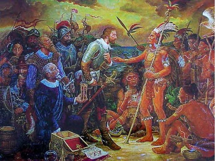 """Part II. Juan Ponce de Leon (1460-1521) He believed Florida was an island. He came ashore April 2nd; named it after the Easter feast of flowers, """"Pasqua florida."""" After fighting Carib Indians of the Lower Antilles, he returned to Florida in 1521; he tried to establish a settlement, but was driven off by the Indians, and fatally wounded. He died in Havana, Cuba."""