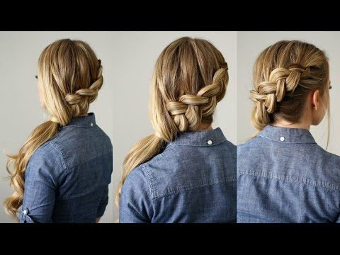 Side Swept Dutch Braid Ponytail Missy Sue Youtube