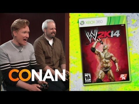 Conan O'Brien Plays and Reviews 'WWE 2K14' on a Pro Wrestling Edition of 'Clueless Gamer'
